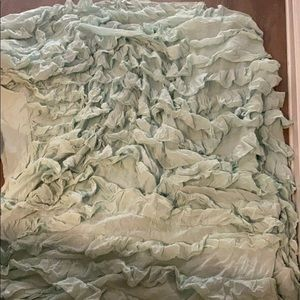 Other - Mint ruffle duvet urban outfitters cover!